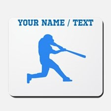 Custom Blue Baseball Batter Mousepad