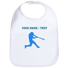 Custom Blue Baseball Batter Bib
