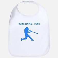 Custom Blue Baseball Batter Bib