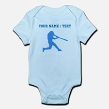 Custom Blue Baseball Batter Body Suit