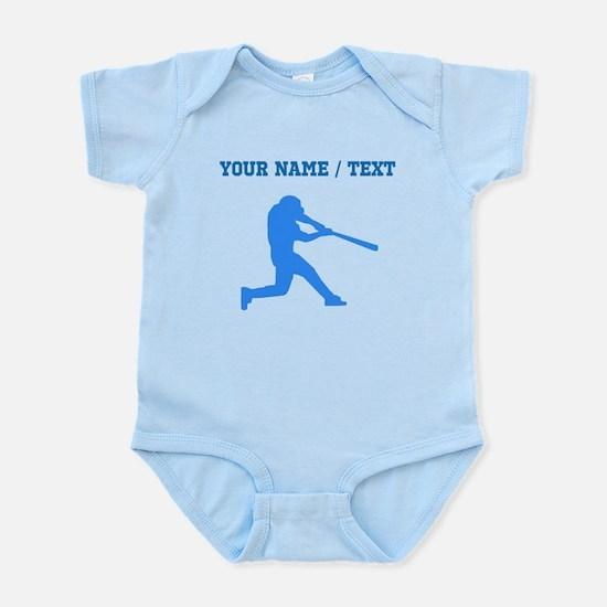 Custom Blue Baseball Batter Body Suit