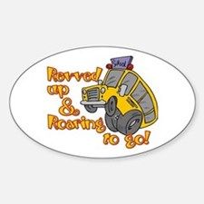 Revved Up! Oval Decal