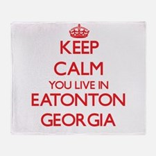 Keep calm you live in Eatonton Georg Throw Blanket