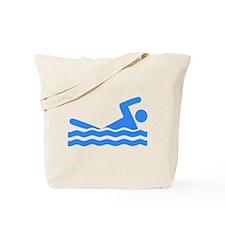 Blue Swimmer Tote Bag
