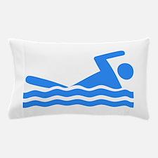 Blue Swimmer Pillow Case