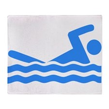 Blue Swimmer Throw Blanket