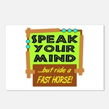 Ride A Fast Horse Postcards (Package of 8)