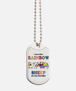 Rainbow Sheep Dog Tags