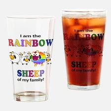 Rainbow Sheep Drinking Glass