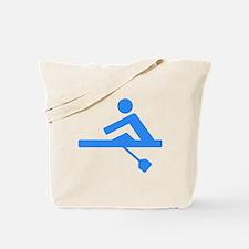 Blue Rower Tote Bag