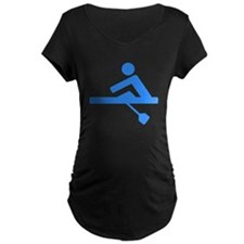 Blue Rower Maternity T-Shirt