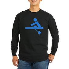 Blue Rower Long Sleeve T-Shirt