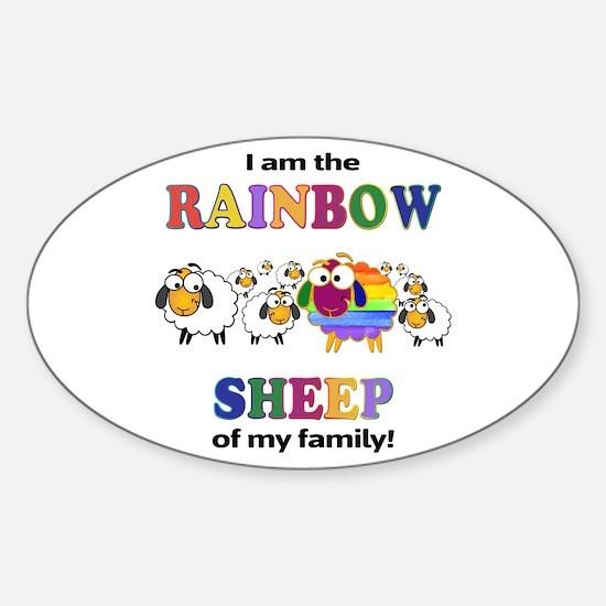 Rainbow Sheep Decal