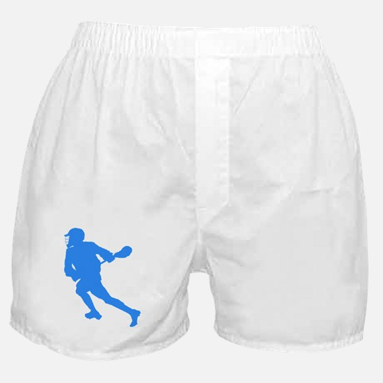 Blue Lacrosse Player Boxer Shorts