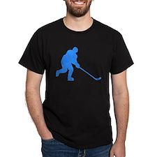Blue Hockey Player T-Shirt