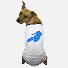 Blue Cyclist Dog T-Shirt