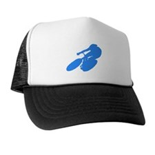 Blue Cyclist Trucker Hat