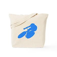 Blue Cyclist Tote Bag