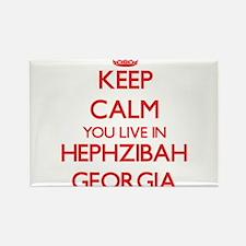 Keep calm you live in Hephzibah Georgia Magnets