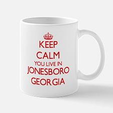 Keep calm you live in Jonesboro Georgia Mugs