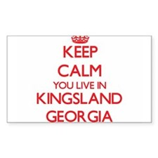 Keep calm you live in Kingsland Georgia Decal