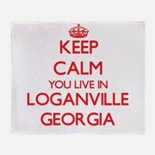 Keep calm you live in Loganville Geo Throw Blanket