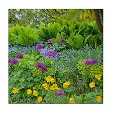 Lush green summer garden Tile Coaster