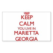 Keep calm you live in Marietta Georgia Decal