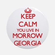 Keep calm you live in Morrow Geor Ornament (Round)