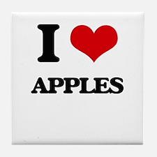 I Love Apples ( Food ) Tile Coaster