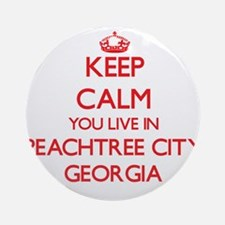 Keep calm you live in Peachtree C Ornament (Round)