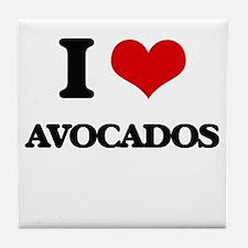 I Love Avocados ( Food ) Tile Coaster