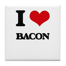 I Love Bacon ( Food ) Tile Coaster