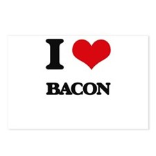 I Love Bacon ( Food ) Postcards (Package of 8)