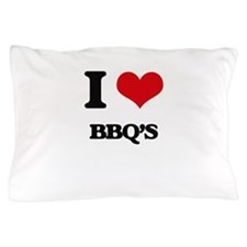 I Love Bbq'S ( Food ) Pillow Case
