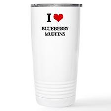 I Love Blueberry Muffin Travel Mug