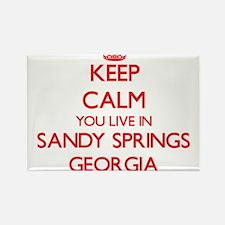 Keep calm you live in Sandy Springs Georgi Magnets