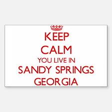 Keep calm you live in Sandy Springs Georgi Decal