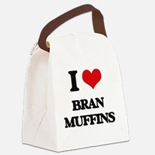 Unique I heart muffins Canvas Lunch Bag