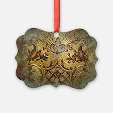 Golden Bird Ornament