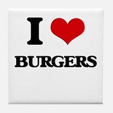 I Love Burgers ( Food ) Tile Coaster