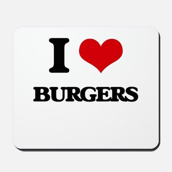 I Love Burgers ( Food ) Mousepad