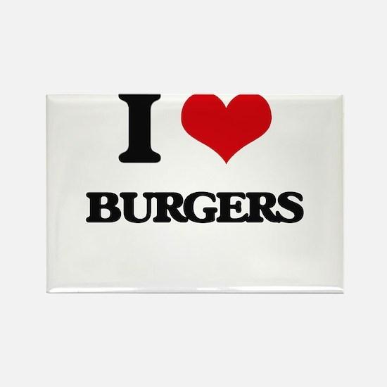 I Love Burgers ( Food ) Magnets