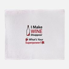 Wine Disappear Throw Blanket