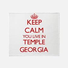 Keep calm you live in Temple Georgia Throw Blanket