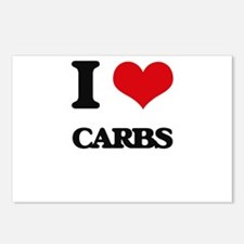 I Love Carbs ( Food ) Postcards (Package of 8)