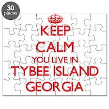 Keep calm you live in Tybee Island Georgia Puzzle