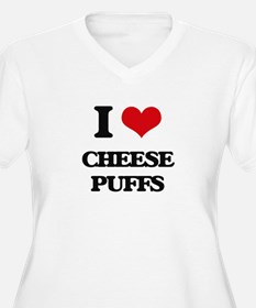 I Love Cheese Puffs ( Food ) Plus Size T-Shirt