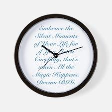 Moments of Magic Wall Clock