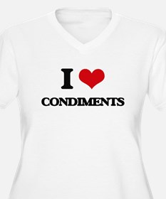 I Love Condiments ( Food ) Plus Size T-Shirt